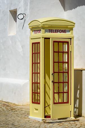 Telephone booth in Cacela Velha