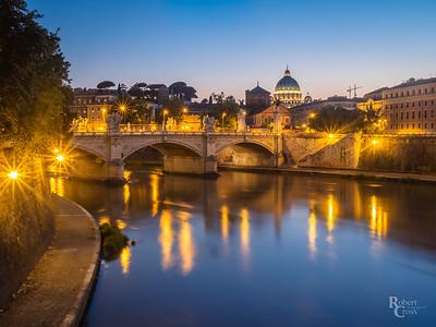 Blue Hour Along the Tiber