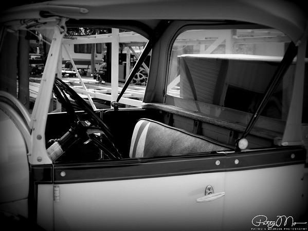 old car 8 b & w
