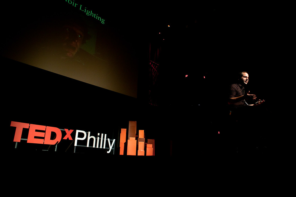 Director Jon Foy speaks at TEDxPhiladelphia in 2012.