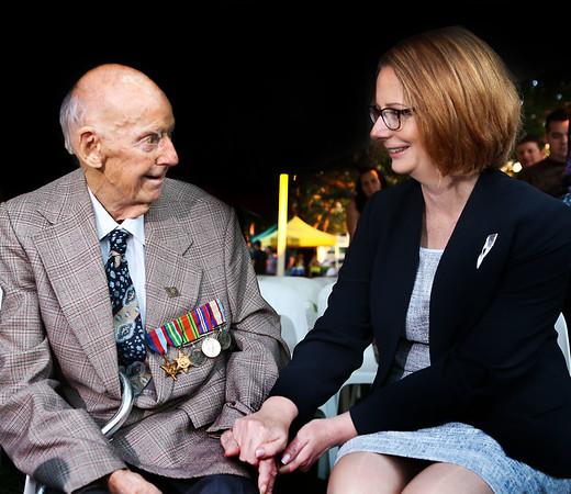 PM Julia Gillard at ANZAC Day service.