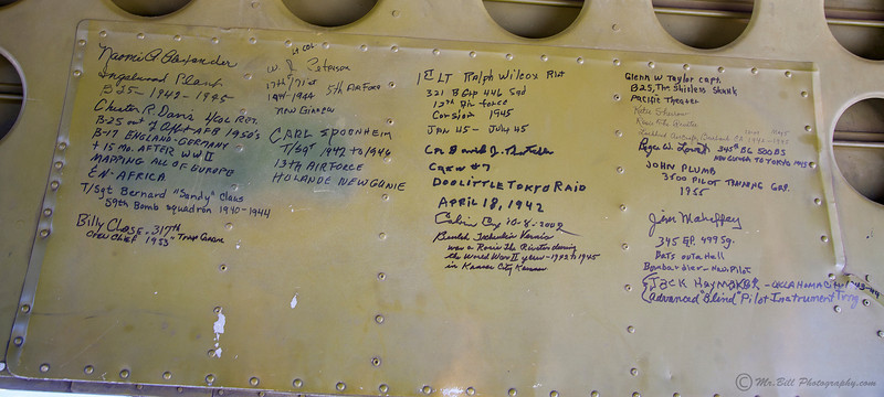 Signatures on B-25 bomb door