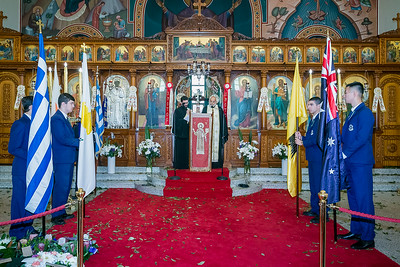 ANZAC DAY Service at St Spyridon War Memorial Church, Kingsford, Sydney.