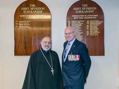 ANZAC DAY Service at St Spyridon War Memorial Church, Kingsford, Sydney.