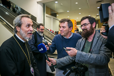 Archbishop of Australia, His Eminence Makarios arrived in Sydney Australia airport.