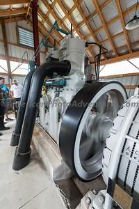 Ashtabula Antique Engine Show. A two cylinder Fairbanks Morse engine producing 240 hp.