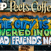 """OAKLAND BLACK LIVES MATTER MURAL, """"THE DITY IS COVERED IN OUR DEAD FRIENDS NAMES"""""""