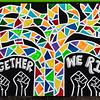 """OAKLAND BLACK LIVES MATTER MURAL, """"TOGETHER WE RISE"""""""