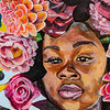 OAKLAND BLM MURAL, BRIONNA TAYLOR  AND FLOWERS