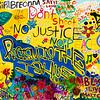 "OAKLAND BLACK LIVES MATTER MURAL, ""NO JUSTICE, NO PEACE"""