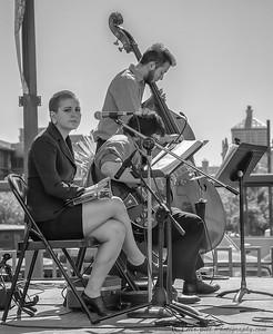 Trio playing @ Chalk the Block