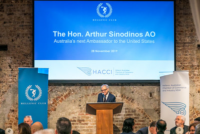Celebrating the appointment of The Honourable Arthur Sinodinos AO as the Australian Ambassador to the United States