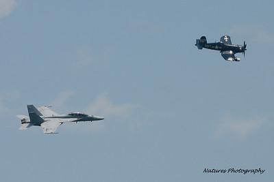 U.S. Navy Legacy Flight: F-18 Super Hornet and F4U Corsair