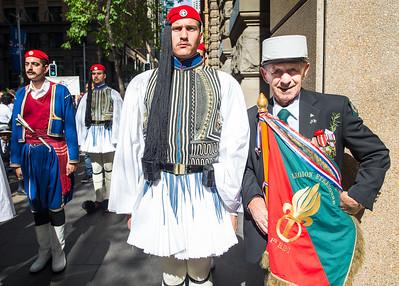ANZAC Day March 2016, with the EVZONES Sydney Australia
