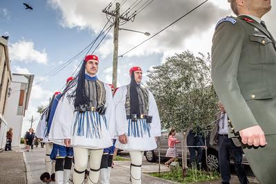 All Saints Greek Orthodox Parish with the Greek Presidential Guards (Evzones) Sydney Australia