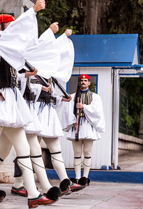 Presidential Guard (Evzones) Athens Greece Sunday March