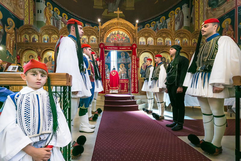 2017 Greek Orthodox Parish of Kogarah with Presidential Guards of