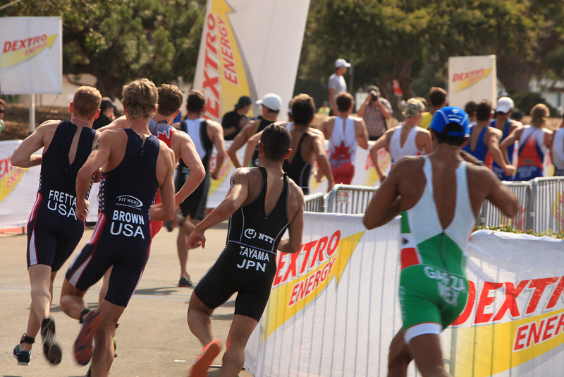 ITU Triathlon - San Diego - Olympic Qualifying Event, Men's Elite Division- May 12, 2011 - Running Event - [© 2012 Cynthia Hedgecock]
