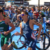 ITU Triathlon - San Diego - Olympic Qualifying Event, Men's Elite Division- May 12, 2011 - Bike Event,  transition to run - [© 2012 Cynthia Hedgecock]