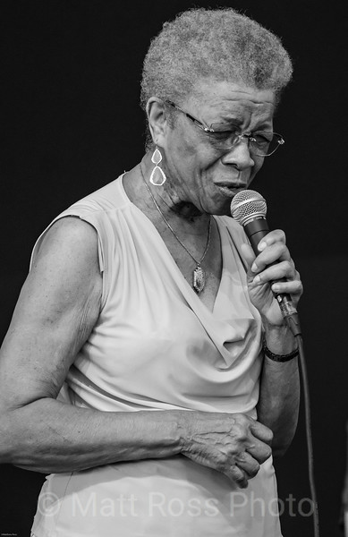 GERMAINE BAZZLE, AT NEW ORLEANS JAZZ AND HERITAGE FESTIVAL, 2019