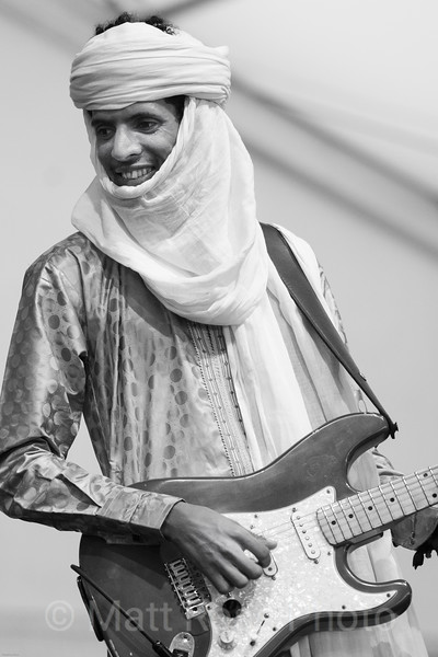SIDEMAN, WITH MDOU MOCTAR OF NIGER BAND, NEW ORLEANS JAZZ AND HERITAGE FETIVAL, 2019