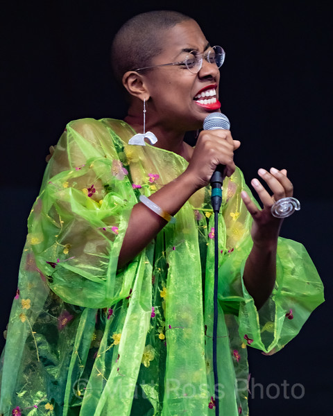 CECILE McLORIN SALVANT, AT THE NEW ORLEANSA JAZZ AND HERITAGE FESTIVAL, 2019