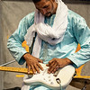 MUSICIAN'S HANDS, MDOU MOCTAR OF NIGER performing at Jazz Fest 2019.