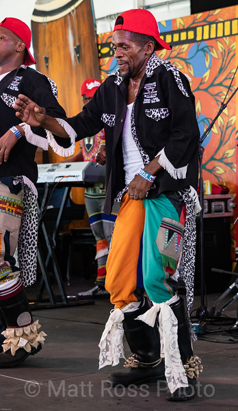 SOUTH AFRICAN GUMBOOT DANCER, NEW ORLEANS JAZZ FESTIVAL, 2019