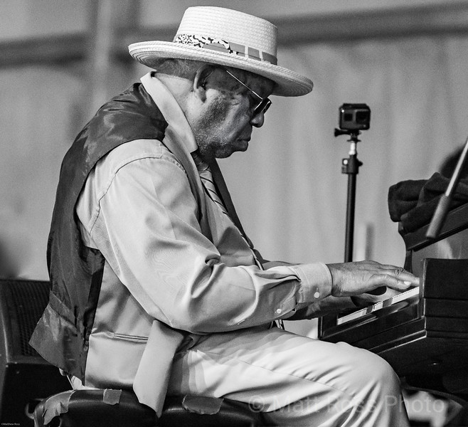 ELLIS MARSALIS, AT THE NEW ORLEANS JAZZ AND HERITAGE FESTIVAL, 2019, 2019