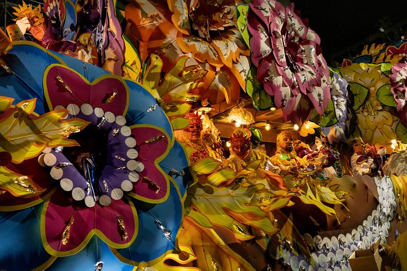 orpheus parade float, iv, mardi gras, 2020