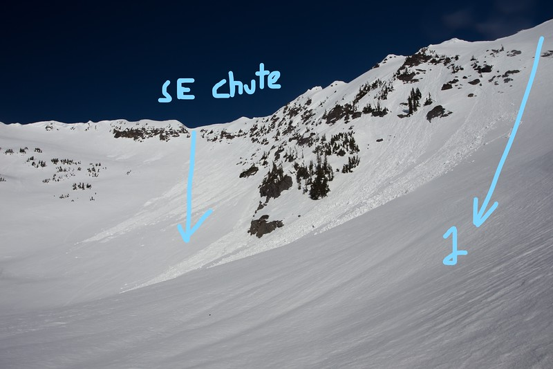 Rock Mountain and the SE Chute, plus Chute 1