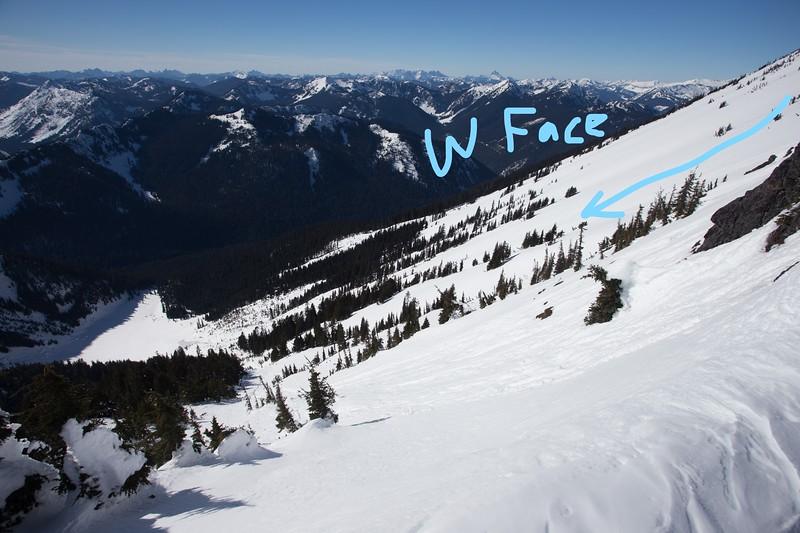 Rock Mountain West Face.
