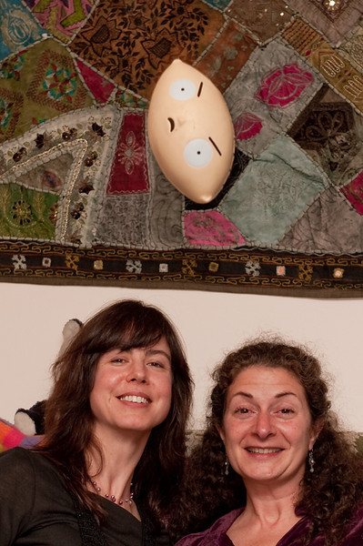 Stuey insinuates himself into this portrait of Katrinka and Lynne.