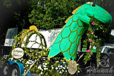 The Oregonian Floral Float during the Portland Rose Festival 2011 Grand Floral Parade Float Showcase  © Copyright Hannah Pastrana Prieto