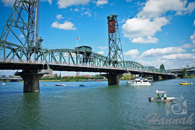 Hawthorne Bridge along the Willamette River in Portland, OR during the Portland Rose Festival Dragon Boat Race 2011  © Copyright Hannah Pastrana Prieto