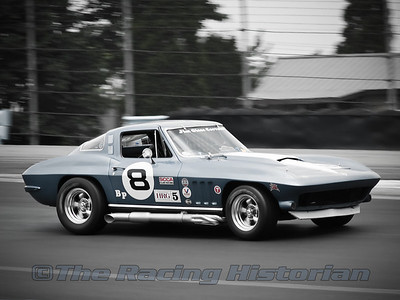 Vintage Corvette GT Racer at Watkins Glen during the 2007 HSR Historic Races.