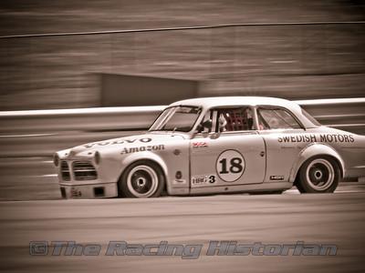 1963 Volvo 122 Amazon at the 2007 HSR Historic Races at Watkins Glen.