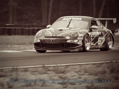 TRG (Tim George, Jr. and Andy Lally) Porsche GT3 Cup at the 2008 Rolex Sports Car Series at Thunderbolt Raceway (NJ Motorsports Park)