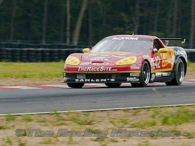 Team Sahlen Corvette (Joe Nonnamaker and Will Nonnamaker) at the 2008 Rolex Sports Car Series race at Thunderbolt Raceway (NJ Motorsports Park)