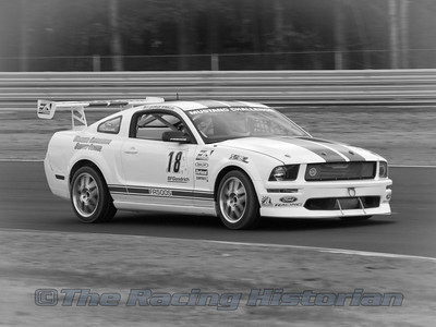 Rehagen Racing Ford Mustang (George Winkler) in the Mustang Challenge race during the 2008 Rolex Grand-Am at Thunderbolt Raceway (NJ Motorsports Park)