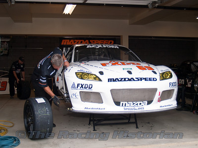 SpeedSource Mazda RX-8 in the Garage Area.