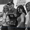 Andy Pilgrim with the SPEED girls in victory lane.