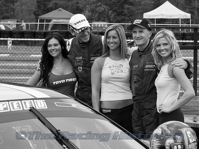 Andy Pilgrim and Randy Pobst with the SPEED girls in victory lane.
