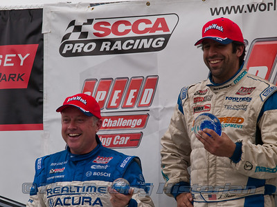 Jason Saini (Winner) and  Peter Cunningham (2nd) on the Podium after the SPEED touring Car Championship race.