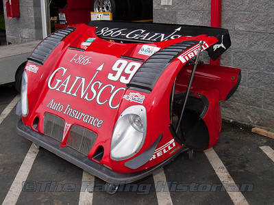 Body Work in the garage area for the Gainsco / Bob Stallings Racing Pontiac Riley.