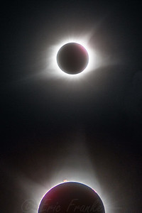 Composite of two eclipse images. Makes a great phone background!