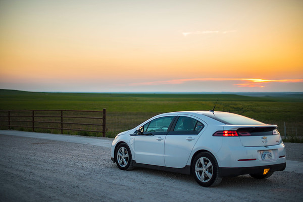 Chevy Volt at the Cattle Pens