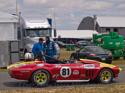 Tambeaux Racing - 2010 NJMP (Vintage Trans-Am Event).  Left - Chris Schneider (Crew Chief)  Right - Mike Moss (Driver & Owner of Tambeaux Racing)