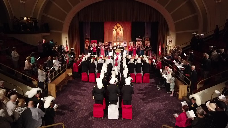 A few video clips of the service