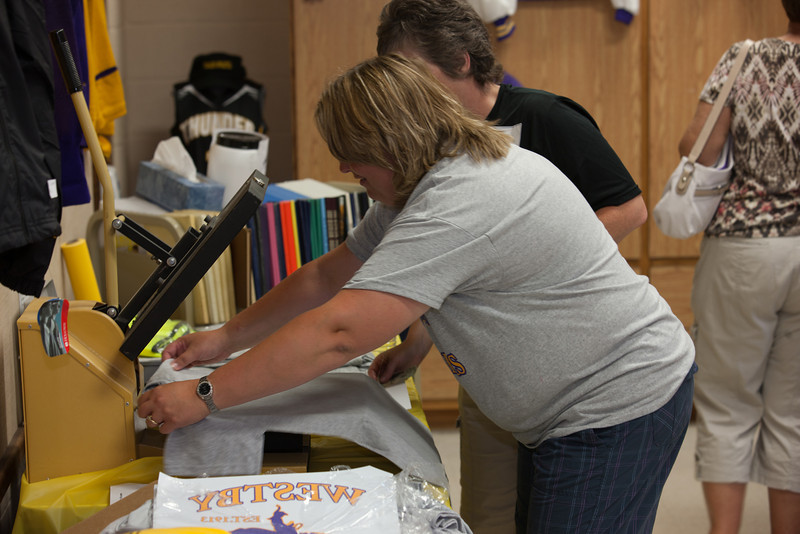 Misty Making a Westby Ranger T-Shirt at the Westby Centennial